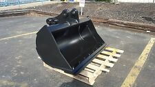"New 48"" Takeuchi TB285 Excavator Ditch Cleaning Bucket with Bolt On Edge"