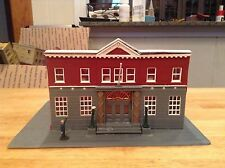 HO scale lot diorama built Life-Like  Woodlawn Police Station building lot scene