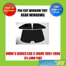BMW 3 SERIES E36 2-DOOR 1991-1998 5% LIMO REAR PRE CUT WINDOW TINT