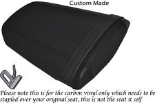 CARBON FIBRE VINYL CUSTOM FITS HONDA CBR 600 RR 07-12 REAR SEAT COVER ONLY