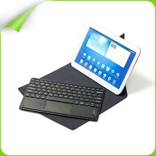 """Bluetooth Keyboard w Touchpad PU Leather Case fr Samsung 9"""" & 10"""" Tablet Andorid"""