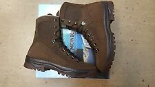 NEW British Army Issue Meindl Desert Fox Brown Leather Combat Boots Size 11 UK