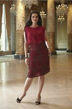 BRAND NEW WOMENS MIDNIGHT VELVET RED DONDI BEADED SKIRT DRESS PLUS SIZE 1X