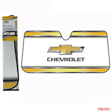 Chevy Chevrolet Bowtie Elite Series Car Truck Windshield Folding Front Sun Shade