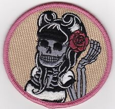 Sugar Skull Motorcycle vest patch Pin up Girl Day of Dead