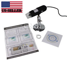 10X - 200X Plug in Computer USB LED Digital Microscope Camera Magnifier Coin Gem