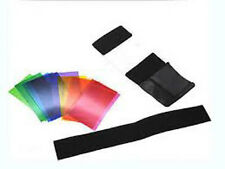 12pcs Flash Diffuser Lighting Colour Gel Filters For Speedlite uk