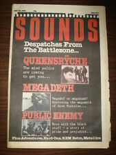 SOUNDS 1988 MAY 28 QUEENSRYCHE MEGADETH PUBLIC ENEMY