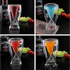 Newest Mermaid Glass Cup Double Glass Wall Beer Wine Whisky Mug Glassware Gift L