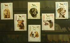 POLAND-STAMPS MNH Fi3049-54 SC 2900-05 Mi3197-02 - Hunting Dogs - 1989, clean