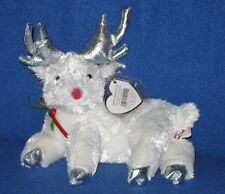 TY SLEIGHBELLE the WHITE REINDEER BEANIE BABY - MINT with MINT TAGS
