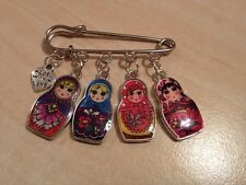 1 russian doll babushka kilt pin brooch