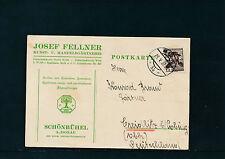 Geschäfts-Postkarte 1936 aus Melk, Gärtnerei in Schönbühel  7/5/15