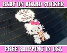 Hello Kitty Baby On Board Bumper Sticker Decal