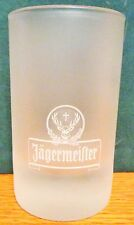 """JAGERMEISTER   3 1/2"""" TALL   FROSTED SHOT GLASS"""