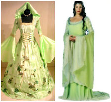 HALLOWEEN DRESS S-M 10-12-14 MEDIEVAL WEDDING COSTUME CELTIC ARWEN WITCH GOTHIC