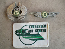 1980 Evergreen International Transport Airlines Pilot Wings badge Pin patch lot