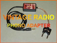 VINTAGE RADIO PHONO ADAPTER IPOD IPHONE SMARTPHONE GRUNDIG PHILIPS ETC