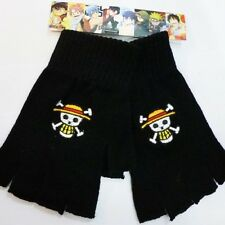 ONE PIECE GUANTI GLOVES NERI PIRATA COSPLAY RUFY BANDIERA ZORO ACE NAMI #2