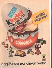 03-513 Pubblicita'/adversiting - Da oggi Kinder e' anche un ovetto - Ferrero