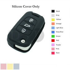 Silicone Cover Holder Shell fit for KIA Flip Remote Key Case 3 Button 11CLR BK