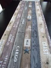 Tischläufer Planken Maritim ca.168x40 cm Impressionen Meer Strand Muscheln Boot