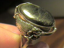 HEMATITE STERLING SILVER 925 RING 6.5 RARE NATURAL ELEGANT COMPLEX OLD INDIAN RA