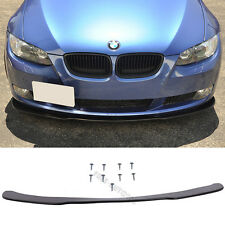 Fit 2005-2013 BMW E90 E92 Front Bumper Lip Under Spoiler Splitter PU