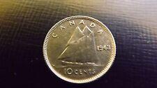 CANADA  10 CENT 1943 UNC