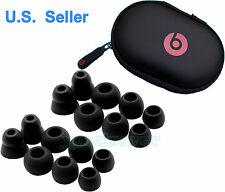 16 Replacement Black Ear Bud/Gels for Monster Beats Powerbeats 2.0 3.0 + CASE