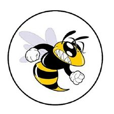 "48 Angry Bee !!! ENVELOPE SEALS LABELS STICKERS 1.2"" ROUND"