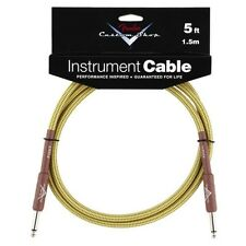Genuine Fender® 5' Custom Shop Tweed Instrument Cable  # 0990820027 - 5 ft. feet