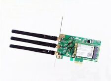 New 300Mbps PCI -E WiFi wireless Card Adapter Antennas for Desktop Laptop PC