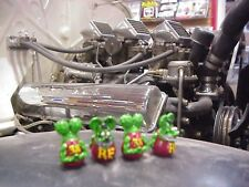 RAT FINK VALVE STEM CAPS GREEN  4 CAPS TOTAL  ED ROTH KUSTOM HOT ROD RAT GASSER