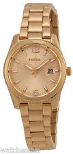 Fossil ES3584 Boyfriend Rose Gold Dial Rose Gold Stainless Women's Watch