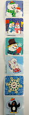 20 Winter Holiday Snowman Penguin Stickers Party Favors Rewards Teacher Supply
