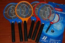 "LOT 6PC LARGE MOSQUITO BUG INSECT ZAPPER RACKET ELECTRIC FLY SWATTER 20""X8.25"""