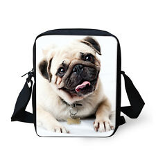 Pug Dog Women's Shoulder School Bag Handbag Cross Body Purse Satchel Messenger