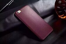 Luxury Ultrathin Leather Soft Gel TPU Back Case Cover For iPhone 5s Se 6 6s Plus