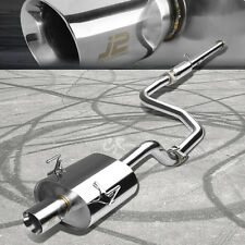 "J2 ENGINEERING 3.5"" TIP CATBACK EXHAUST SYSTEM FOR 92-95 CIVIC EG6 3DR HATCHBACK"