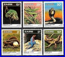 Zaire 1987 Reptiles Mnh Snakes, Lizards, Animals = Don'T Watch - Buy !