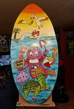 Surface skim board hand painted shortiez ink beach bum summer art beach surf
