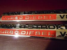 2005 - 2010 FORD F250 F350 F450 F550 6.0 6.7 POWERSTROKE TURBO DIESEL EMBLEMS