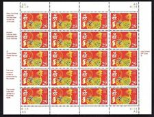 1992 Year of the Rooster: Lunar Happy New Year Sheet of 20 x 29-Cent Stamps 2720