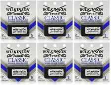 Wilkinson Sword Classic Double Edge Safety Razor Blades - 5 Blades (6 Pack)