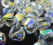 50pcs Swarovski ® 4mm AB Crystal Bicone Beads 5328