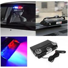 Useful 16LED Red/ Blue Car Dash Police Emergency Warn Flash Strobe Lamp Lights