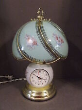 VINTAGE FLOWER GLASS GLOBE CLOCK LAMP 40W