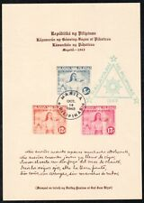 Philippines Japanese Occupation - 1943 Independence Day Souvenir Sheet, FDC