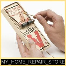 "$8 !  FREE S&H !  1 LARGE  3-1/4 X 7""  VICTOR M201 SNAP SPRING REUSABLE RAT TRAP"